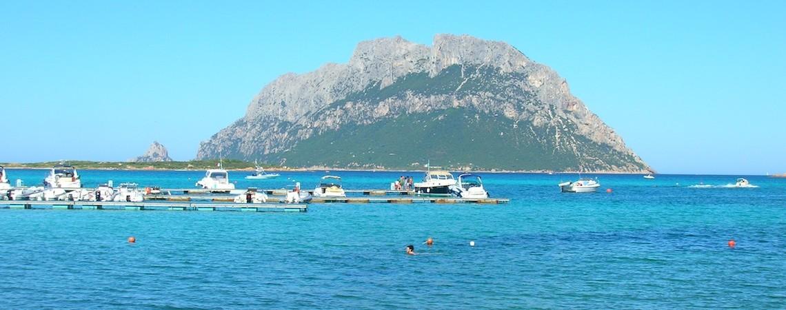 Mediterranean Island's Volcanic Remnants